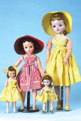"""Cissy,"" ""Elise,"" ""Cissette"" and ""Wendy"" are ready for a day of sun and surf in these two-piece beachwear outfits."
