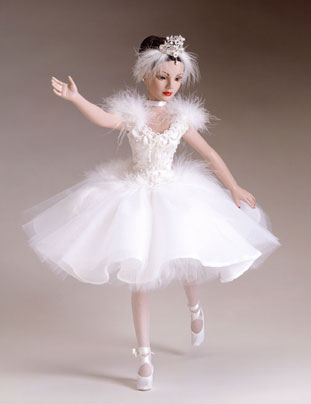 """All set to perform in the talent section of the Pageant, the Tonner dressed doll titled """"Swan Lake"""" sells for $149.99 and is a limited edition of 500."""