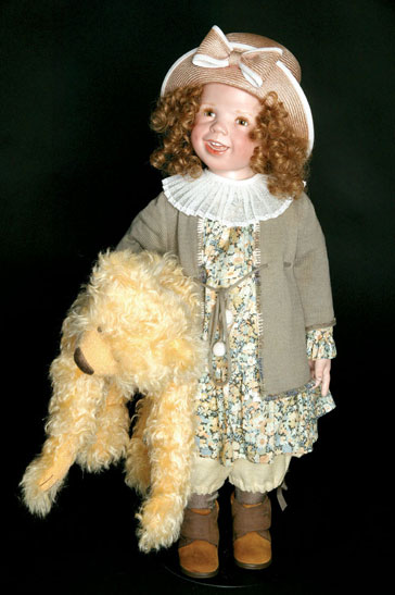 """""""Doreen"""" could be the little girl you see crossing the street at your corner,"""" Günzel admits. """"She drags along her teddy bear, and she is set to go."""" A U.S. exclusive, """"Doreen"""" is limited to 150 pieces and priced at around $800."""