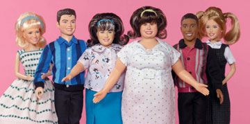 Sculpted by Kamela Portuges, Play Along Toys' set of fashion dolls feature six of the main characters from the new movie Hairspray. The dolls range in height from 10½ to 12 inches and are priced from $14.99 to $24.99.