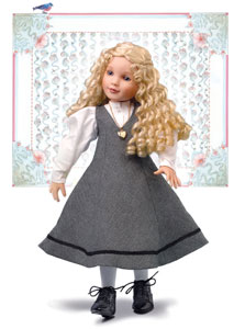 All the 17-inch character dolls, including April (left) and Louisa, wear a white blouse and gray school jumper. Retail price is $170 for the dolls, which each have nine ball joints.