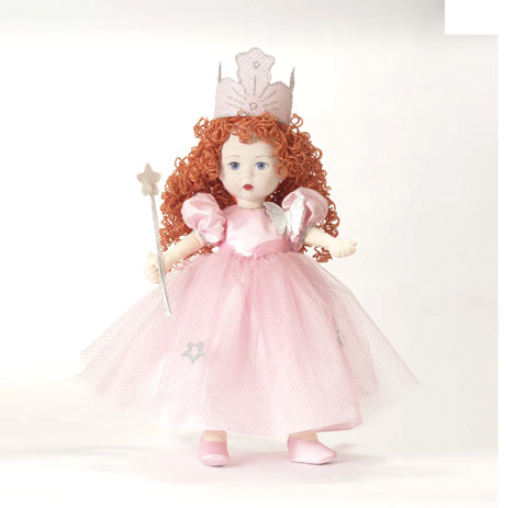 """A new cloth doll this fall, """"Glinda the Good Witch"""" is 18 inches. Although Alexander's cloth creations are play dolls, they have collector value as well. """"We have cloth collectors who collect anything cloth from our vintage days until now,"""" says Gale Jarvis."""