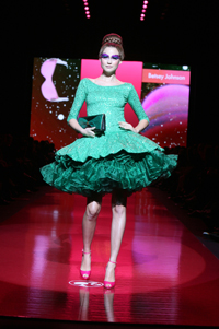 A model flaunts Betsey Johnson design at the 2009 Barbie fashion show.