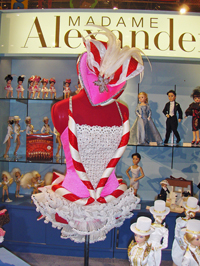 "Alexander exhibited an authentic Rockette costume at its booth; it was the inspiration for the new ""Candy Cane Bizzazz."""