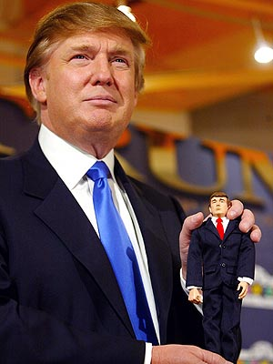 Trump It Up: Donald Trump is still mum about his doll-buying ways.