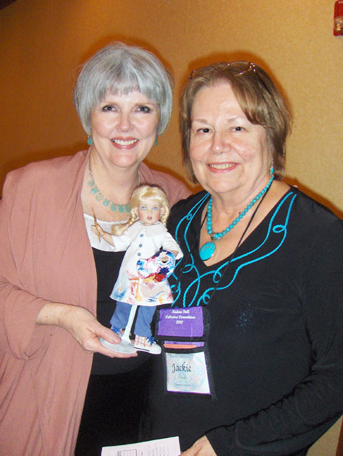 Helen Kish and collector Jackie Obinski at the event Kish held at the 2010 MDCC.