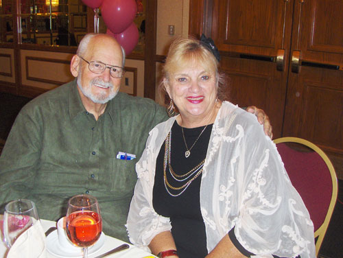 The MDCC convention services coordinator and manufacturers' liaison, Billie Stevens, at the 2010 convention with husband Bob.