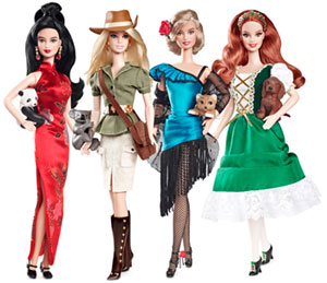 """China"", ""Austrailia"", and ""Ireland"" Barbie were released this spring"