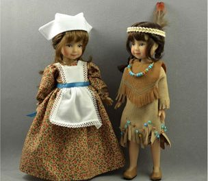 Thankful and Delightful: A charming and nostalgic doll salute to Thanksgiving dolls, past and present.
