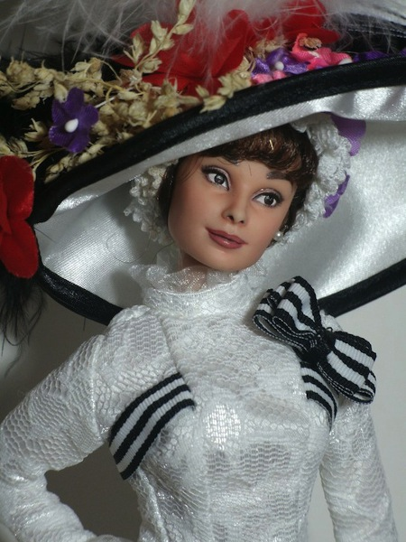 audrey hepburn my fair lady ooak doll by lulemee-d6m88r5