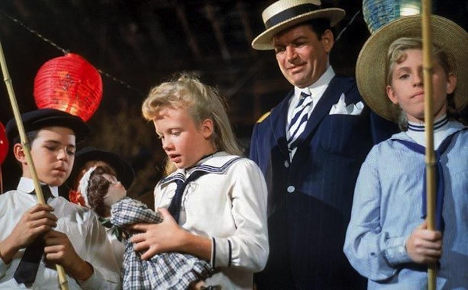 "Hayley Mills, with doll, in Disney's ""Pollyanna."""