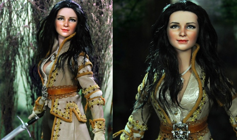 Noel Cruz's transformative skills turn a fashion doll into Snow White from OUAT.
