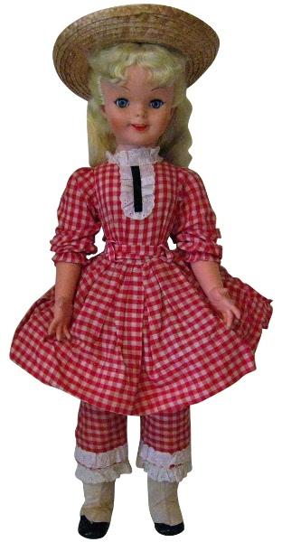 Pollyanna collectible doll made by Uneeda.