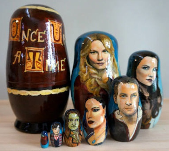 Nesting dolls created by Rachel Anderson, of Inspired Art Dolls.