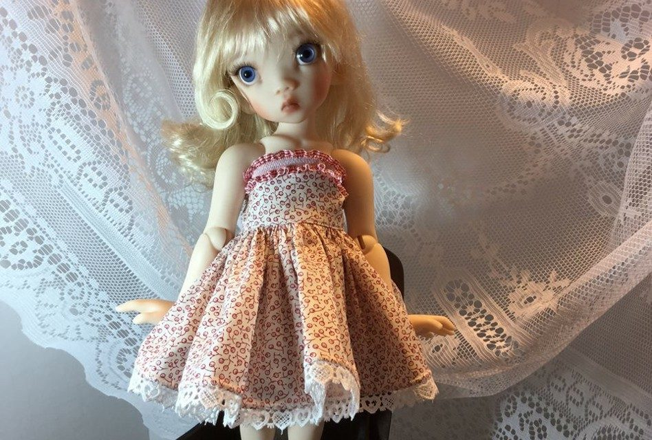 Summer Wind: Edith Schmidt's doll clothing flutters in the breeze