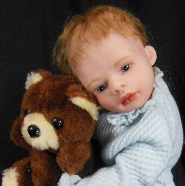 10-inch baby boy with bear