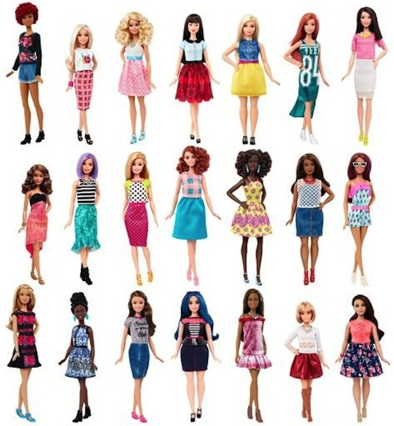 Barbie Fashionistas, Realistic Versions of Women's Physicality.
