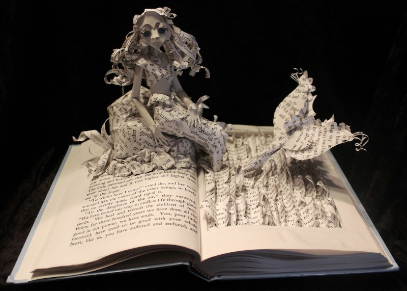 Paper Sculpture of The Little Mermaid by Jodi Brown.
