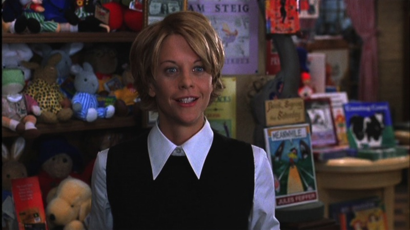 """Meg as Kathleen the Book Lady in """"You've Got Mail."""" Courtesy of Movie Star News"""