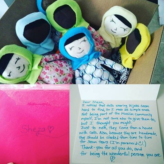 The dolls were found in this box, along with a heartfelt note.