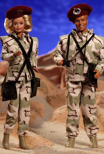 Military Barbie and Ken from Mattel.