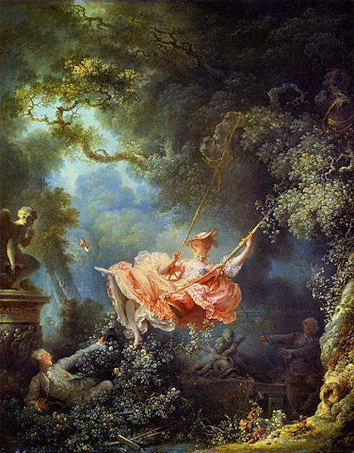 "Fragonard's ""The Swing."" Image courtesy of the National Gallery of Art"