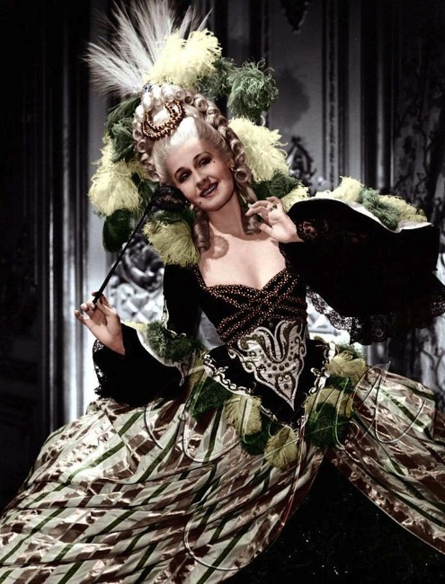 Colorized version from Norma Shearer's 1938 role as the queen