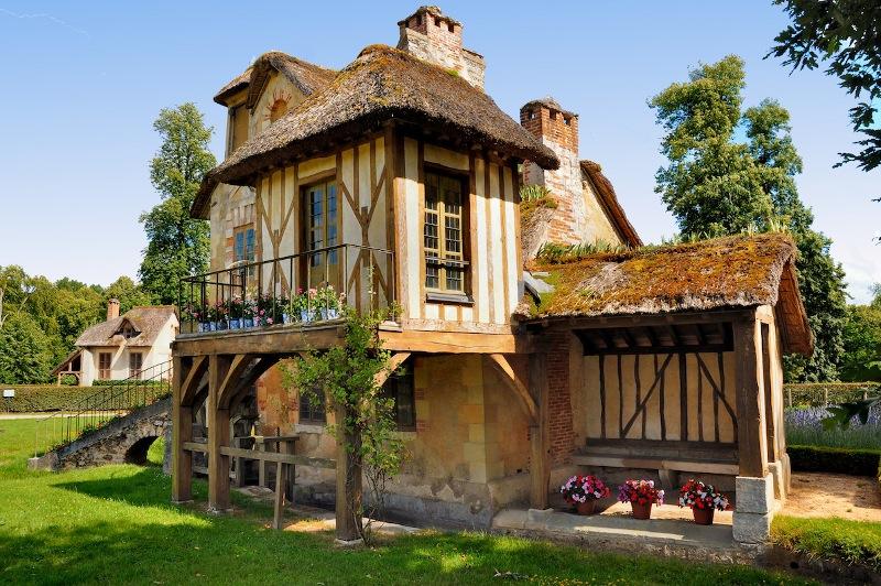 A portion of the fairy-tale village, Petit Hameau de la Reine
