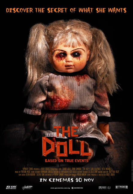 """""""The Doll"""" advertising poster hints at hidden desires."""