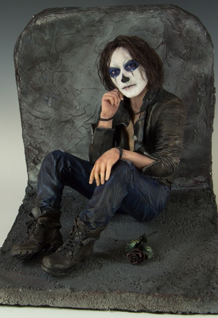 """Waiting, reminiscent of Brandon Lee in """"The Crow"""""""