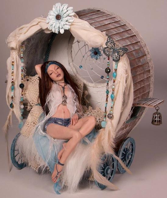 Summer Dreams asleep in her wagon