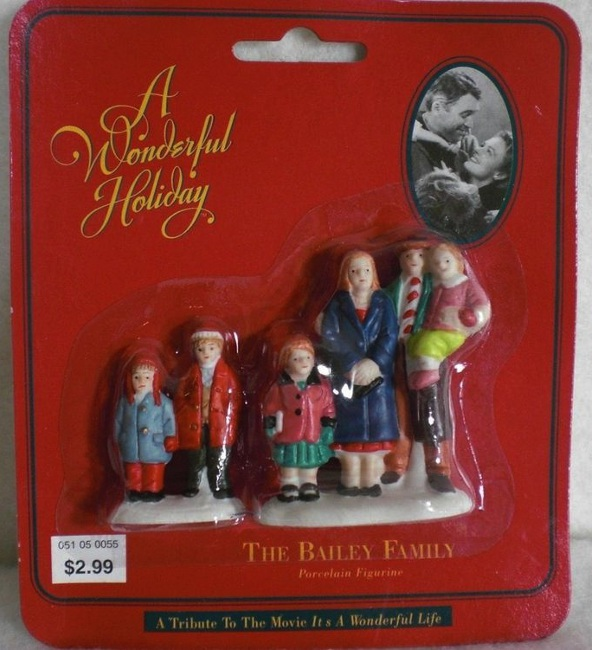 A 1990s holiday figurine set available at Target