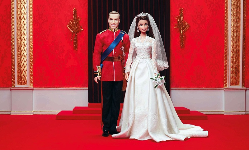 Kate and Will's fairy-tale wedding, commemorated by Mattel