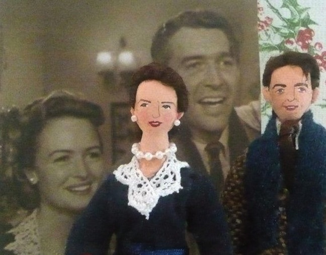 Mini doll renderings of the Baileys from Etsy