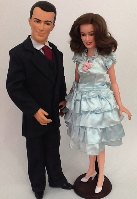 World Dolls' version of George (Jimmy Stewart) and Mary Bailey (Donna Reed)