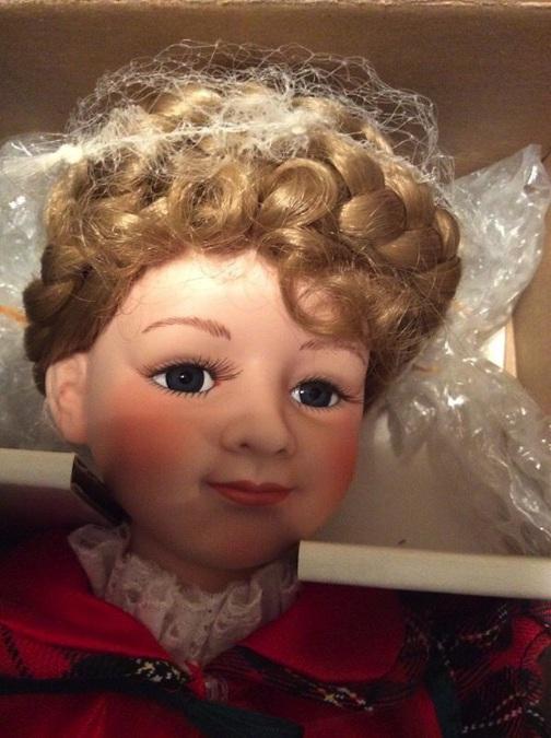 A close-up view of the sought-after Zuzu portrait doll
