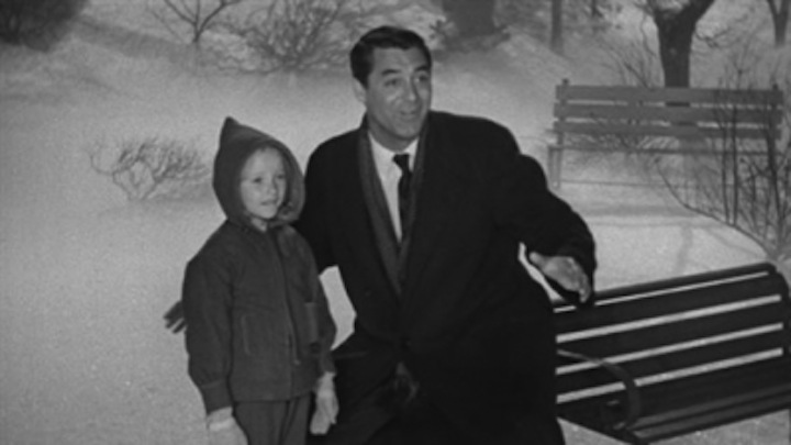 """Cary Grant and Grimes in """"The Bishop's Wife"""""""