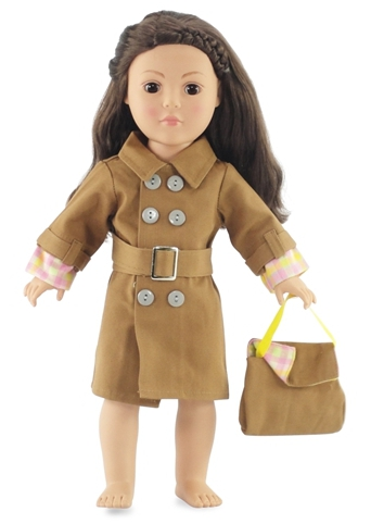 Emily Rose Doll Clothes featured this trench coat. A new one for Markle dolls?