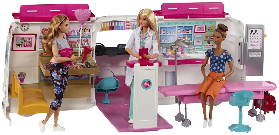 Dr. Barbie in her Mobile Care Clinic.