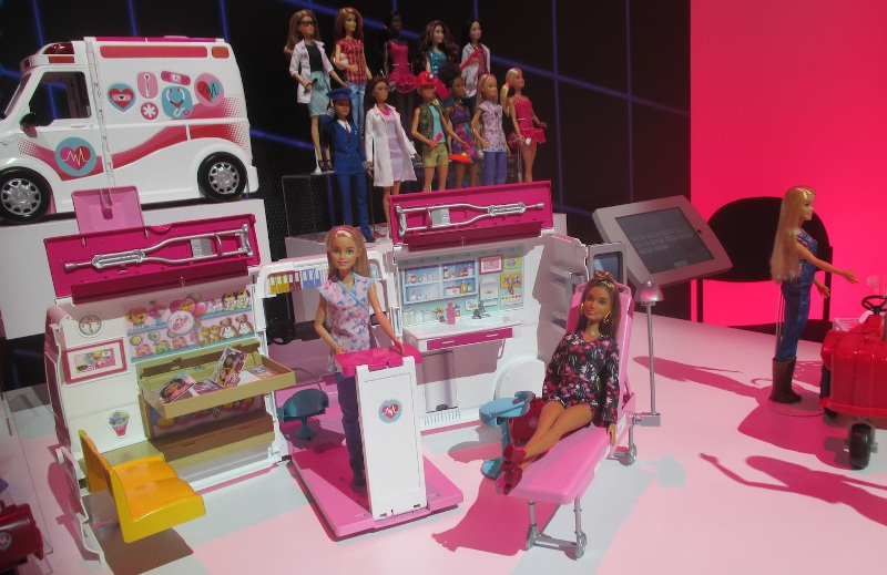 Barbie's Mobile Health-Care Vehicle in the showroom