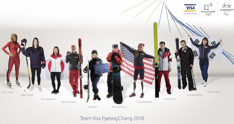 Visa selected its Team Visa for 2018 Pyeongchang, 40 athletes from 17 countries