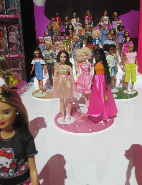 Three of the newest dolls from the Fashionista line at Mattel