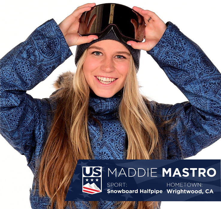Maddie Mastro, Official U.S. 2018 Olympics Team Portrait