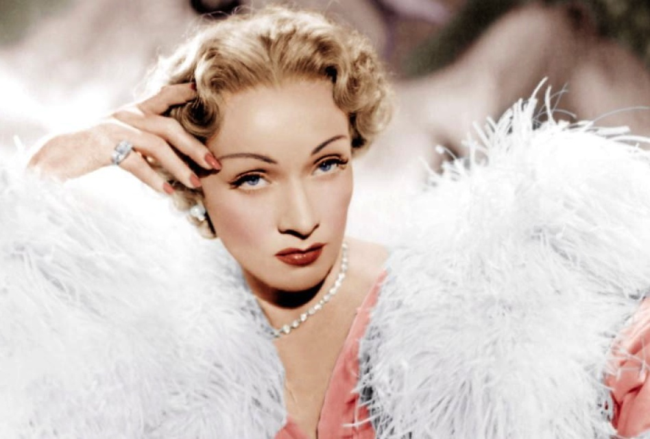"""Marlene Dietrich, channeling her Dior Diva, in 1950's """"Stage Fright"""""""