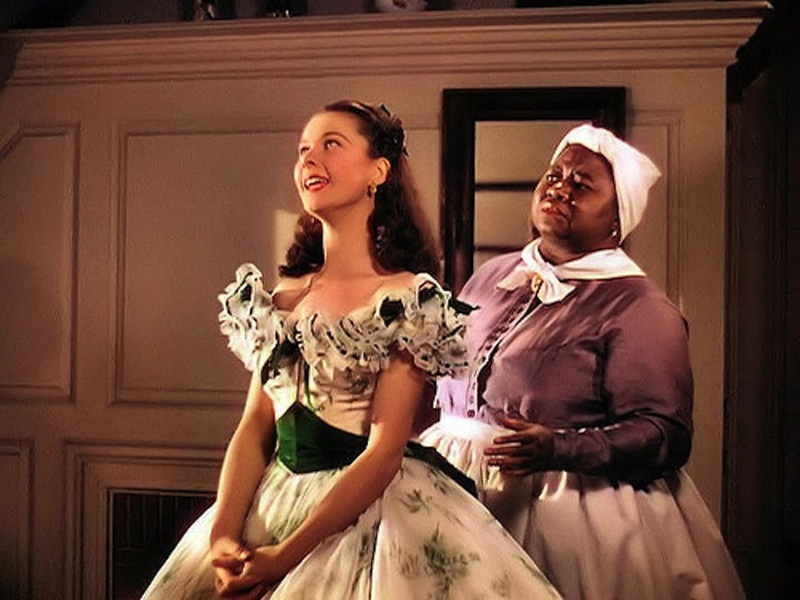 Two Oscar winners: Vivien Leigh as Scarlett, and Hattie McDaniel as Mammy. Photo courtesy of Turner Classic Movies