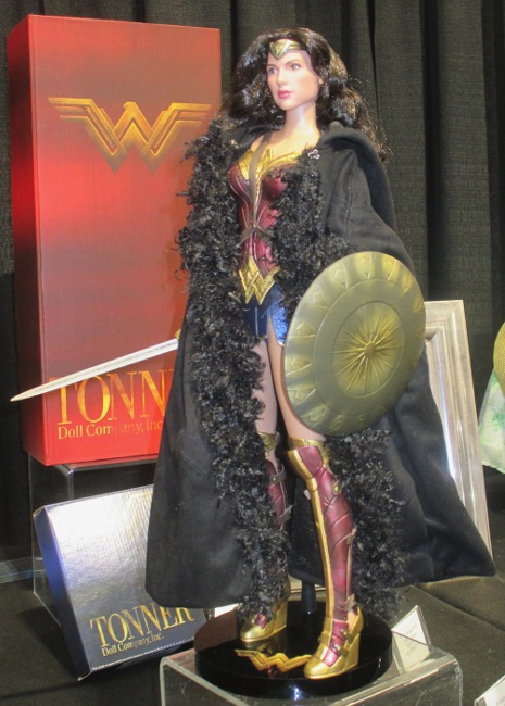 Wonder Woman in her recognizable costume.
