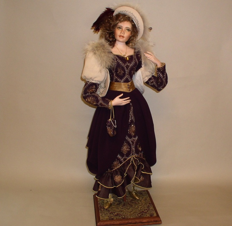 Full body of Helen Vernet doll by Monica Reo
