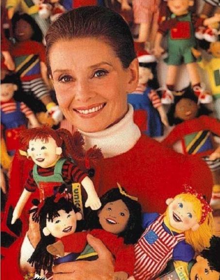 Audrey Hepburn and UNICEF dolls