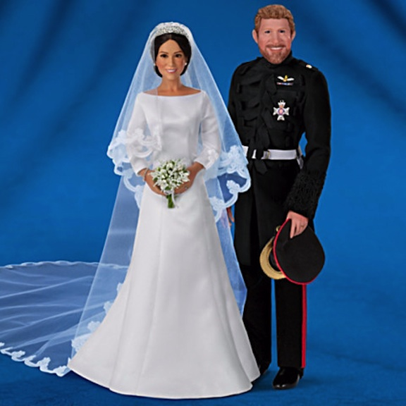 Prince Harry and Meghan Markle dolls