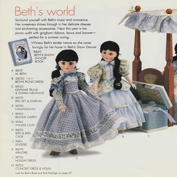 Alexander Beth Doll from Little Women Journal Series